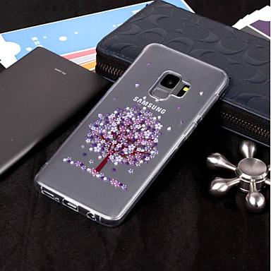 Недорогие Чехлы и кейсы для Galaxy S6-Кейс для Назначение SSamsung Galaxy S9 / S9 Plus / S8 Plus IMD / Прозрачный / С узором Кейс на заднюю панель дерево Мягкий ТПУ