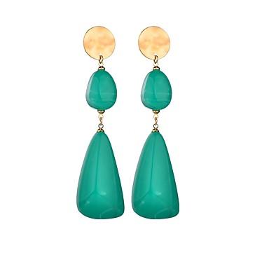 نسائي أقراط قطرة طويل سيدات أوروبي شائع راتينج الأقراط مجوهرات أسود / أخضر من أجل مناسب للعطلات الحانة Bar 1 زوج
