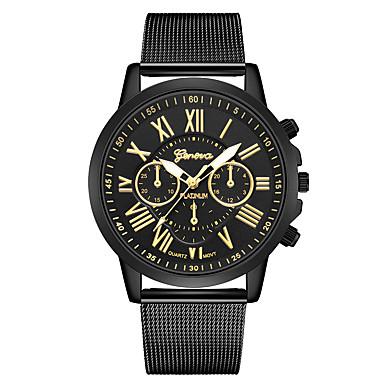 Geneva نسائي ساعة المعصم كوارتز أسود / فضة تصميم جديد ساعة كاجوال كوول مماثل كاجوال موضة - أسود وذهبي أسود / فضي أسود / ذهبي روزي سنة واحدة عمر البطارية