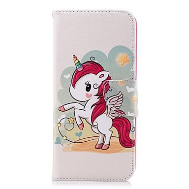 غطاء من أجل Samsung Galaxy S9 / S9 Plus / S8 Plus محفظة / حامل البطاقات / مع حامل غطاء كامل للجسم آحادي القرن قاسي جلد PU