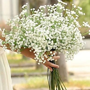 زهور اصطناعية 1 فرع فردي الزفاف ورادت ناعمة