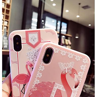 Plus iPhone Custodia iPhone iPhone Per 8 8 per iPhone Fenicottero retro Morbido Per X iPhone TPU X Apple 8 disegno 06833828 Fantasia wUwFqCg
