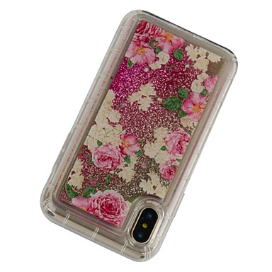 agli Plus Custodia per Resistente 8 iPhone Transparente iPhone decorativo urti 06826215 Plus Fiore TPU iPhone Per iPhone Per X retro X a iPhone Apple 8 Morbido 8 cascata Liquido 8Sx04n8r