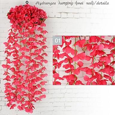 زهور اصطناعية 1 فرع معلقة على الحائط دعامات / الحديثة / المعاصرة أرطنسية أزهار الحائط