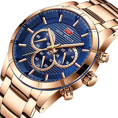 MINI FOCUS نسائي ساعة رياضية ياباني كوارتز ستانلس ستيل فضة / ذهبي روزي ساعة التوقف قضية كوول مماثل ترف كاجوال - رمادي كوفي أزرق