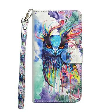 غطاء من أجل Samsung Galaxy S9 / S9 Plus / S8 Plus محفظة / مع حامل / قلب غطاء كامل للجسم بوم قاسي جلد PU