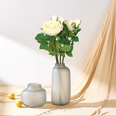 زهور اصطناعية 1 فرع كلاسيكي أوروبي الحديث الورود أزهار الطاولة