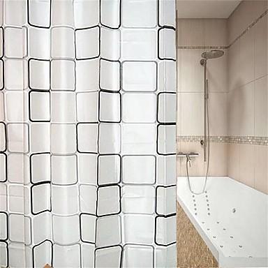 ستائر الدش والخطاف الحديث PEVA هندسي مصنوع بالماكينة ضد الماء / تصميم جديد حمام