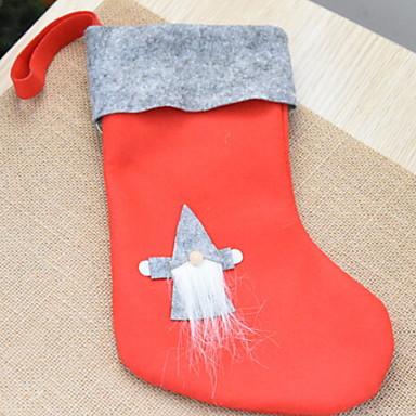 جوارب عيد الميلاد كرتون نسيج القطن مربع حداثة زينة عيد الميلاد