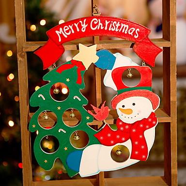 عيد الميلاد الحلي عطلة خشبي مربع حداثة زينة عيد الميلاد