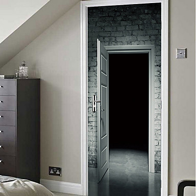 ملصقات الباب - لواصق فوتوغرافي غرفة النوم