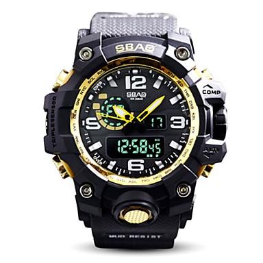 رجالي ساعة رياضية ساعة رقمية رقمي سيليكون أسود / الأصفر 30 m مقاوم للماء رزنامه ساعة التوقف تناظري-رقمي ترف كاجوال - أزرق / أسود أسود وذهبي أسود / أبيض / قضية