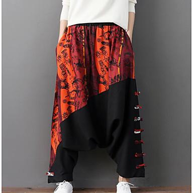 بنطلون رجالي بنطلونات - نحيل ألوان متناوبة النمط الصيني