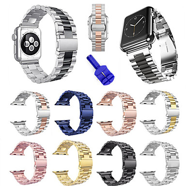 Недорогие Ремешки для Apple Watch-Ремешок для часов для Apple Watch Series 4/3/2/1 Apple Спортивный ремешок Нержавеющая сталь Повязка на запястье