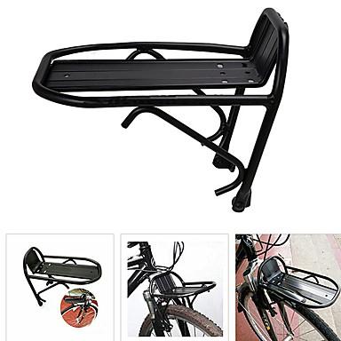 دراجة البضائع الرف قابل للتعديل خفة الوزن سهل التركيب Aluminum Alloy دراجة الطريق دراجة جبلية دراجة قابلة للطي - أسود