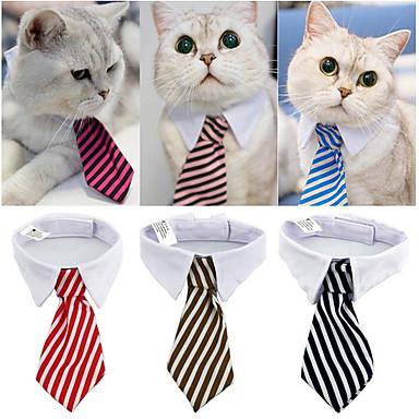 كلاب قطط ربطة عنق ملابس الكلاب مخطط أحمر أزرق زهري 100 ٪ بوليستر كوستيوم من أجل كل الفصول ذكر كلاسيكي الزفاف