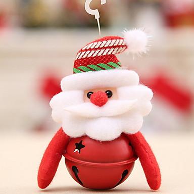 تماثيل الكريسمس / زخرفة عطلة نسيج القطن مربع حداثة زينة عيد الميلاد