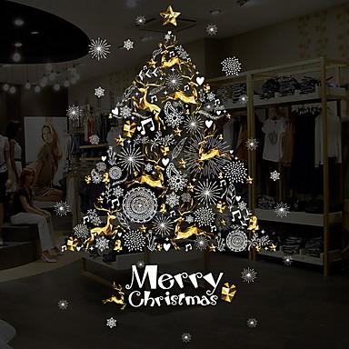 فيلم نافذة وملصقات زخرفة عيد الميلاد عطلة PVC لامعة / ملصق النافذة / القاعة / شوب / مقهى