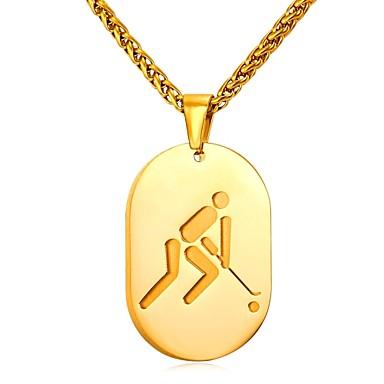 رجالي قلائد الحلي ستايل خلاق شائع موضة الفولاذ المقاوم للصدأ ذهبي فضي 55 cm قلادة مجوهرات 1PC من أجل هدية مناسب للبس اليومي