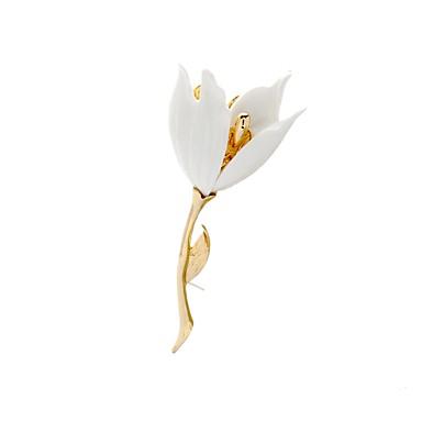 نسائي دبابيس ستايل وردة سيدات أنيق كلاسيكي بروش مجوهرات ذهبي من أجل مناسب للبس اليومي