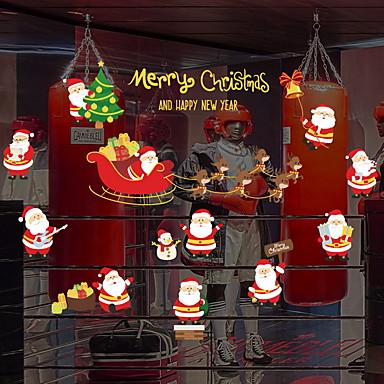 فيلم نافذة وملصقات زخرفة عيد الميلاد عطلة PVC ملصق النافذة