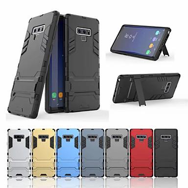 Недорогие Чехлы и кейсы для Galaxy Note-Кейс для Назначение SSamsung Galaxy Note 9 со стендом Кейс на заднюю панель Однотонный Твердый ПК