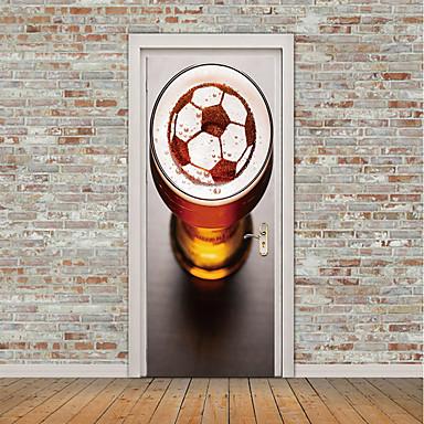 ملصقات الباب - لواصق تجريدي / كرة القدم غرفة الجلوس / غرفة النوم