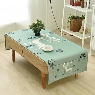 معاصر قطن مربع قماش الطاولة 3Dكرتون الجدول ديكورات 1 pcs