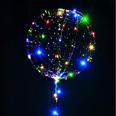 3M 30LED Lamp String Luminous Led Balloons Transparent Helium Happy Birthday Party Decorations Kids Wedding