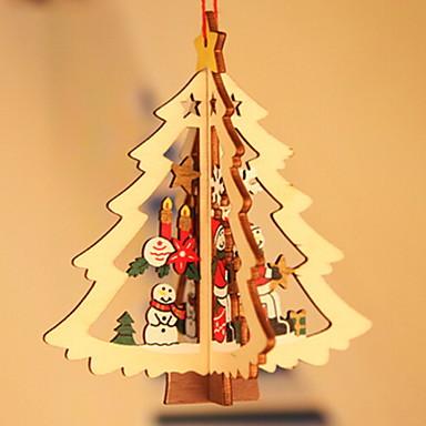 عيد الميلاد الحلي عطلة خشبي مربع خشبي / حداثة زينة عيد الميلاد