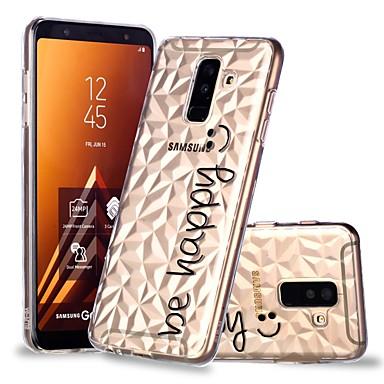غطاء من أجل Samsung Galaxy A6 (2018) / A6+ (2018) / A8 2018 شفاف / نموذج غطاء خلفي جملة / كلمة ناعم TPU