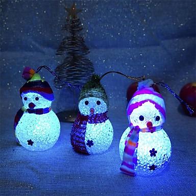 2pc زينة عيد الميلاد تغيير لون الصمام ثلج السنة الجديدة الزينة المزاج مصباح شجرة عيد الميلاد الطرف الديكور