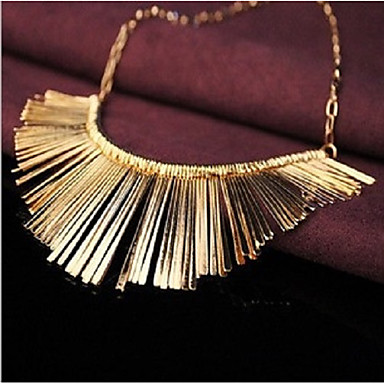 cheap Collar Necklaces-Women's Statement Necklace Tassel Rolo Statement Ladies Unique Design Hyperbole Alloy Silver 45 cm Necklace Jewelry 1pc For Party Party / Evening