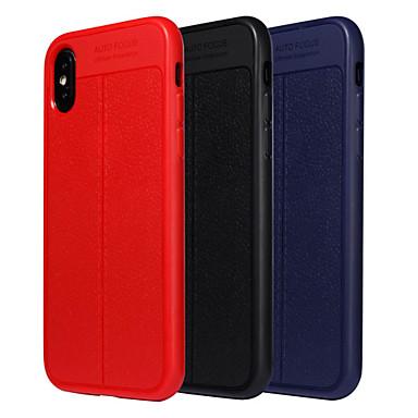 غطاء من أجل Apple iPhone X / iPhone 8 Plus / iPhone 8 ضد الصدمات / ضد الغبار غطاء كامل للجسم لون سادة ناعم TPU