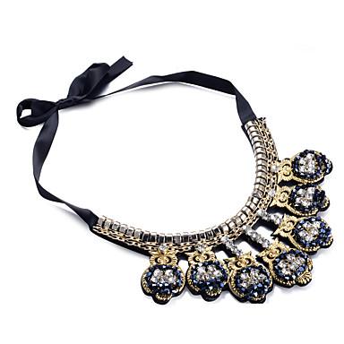 نسائي عقد كلاسيكي سيدات رومانسي قماش سبيكة أسود 10*7.5 cm قلادة مجوهرات 1PC من أجل حفل / مساء