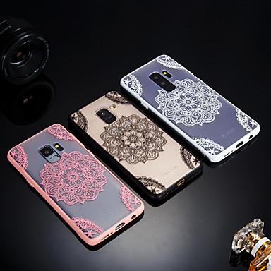 Недорогие Чехлы и кейсы для Galaxy S6-Кейс для Назначение SSamsung Galaxy S9 / S9 Plus / S8 Plus Матовое / Полупрозрачный / Рельефный Кейс на заднюю панель Кружева Печать Твердый Акрил