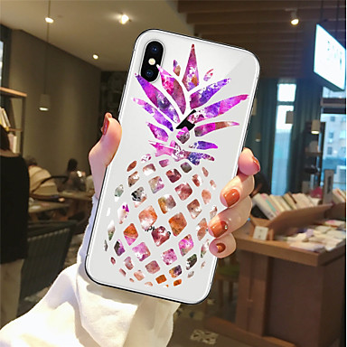 غطاء من أجل Apple iPhone X / iPhone 8 Plus / iPhone 8 شفاف / نموذج غطاء خلفي مأكولات / فاكهة ناعم TPU