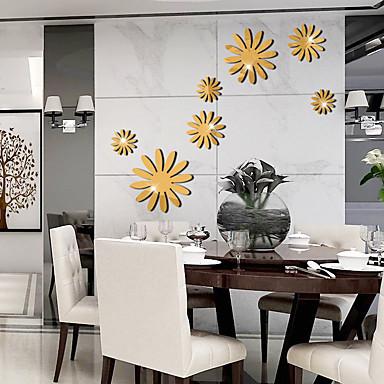 لواصق حائط مزخرفة - ملصقات الحائط على المرآة الأزهار / النباتية غرفة الجلوس / غرفة النوم / دورة المياه