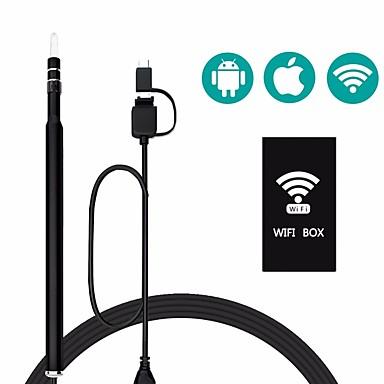 Wifi تنظيف الأذن كاميرا المنظار للماء 1.3mp borescope التفتيش البصرية أداة earpick آيفون المنظار ios