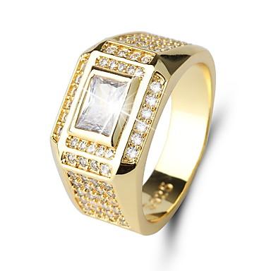 72083e11f492e Homens Clássico Fashion Solitário Anel Imitações de Diamante Precioso Luxo  Clássico Fashion Anéis Jóias Dourado Para