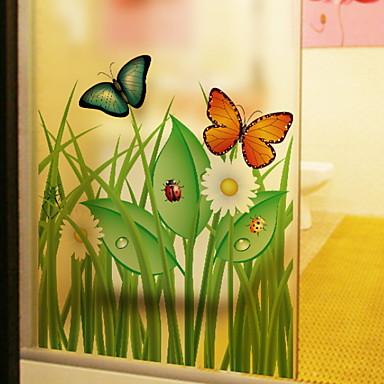 فيلم نافذة وملصقات زخرفة بسيط ورد PVC إبداعي