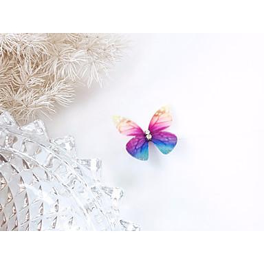 halpa Muotikaulakorut-Naisten Cubic Zirkonia Choker-kaulakorut Tyylikäs Punottu Butterfly naiset Tyylikäs Eurooppalainen Makea Muovit Korityöt Tekojalokivi Sininen Pinkki Tumman vihreä 36 cm Kaulakorut Korut 1kpl