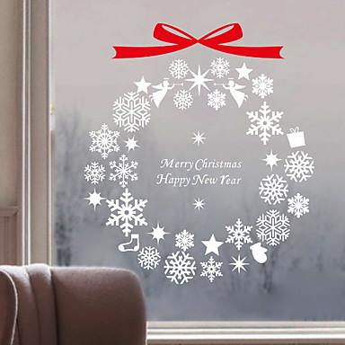 فيلم نافذة وملصقات زخرفة عيد الميلاد هندسي / عطلة PVC تصميم جديد / بديع