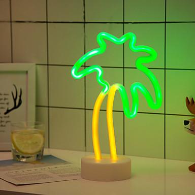 1SET الجدول مصباح الليل غني بالألوان بطاريات آ بالطاقة للأطفال / خلاق / زفاف <5 V