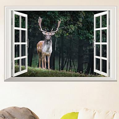 لواصق حائط مزخرفة - لواصق / ملصقات الحائط الحيوان حيوانات غرفة الجلوس / غرفة النوم / دورة المياه / قابل اعادة الوضع