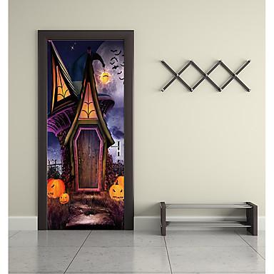 ملصقات الباب - لواصق / عطلة ملصقات الحائط مناظر طبيعية / Halloween حضانة / غرفة الأطفال