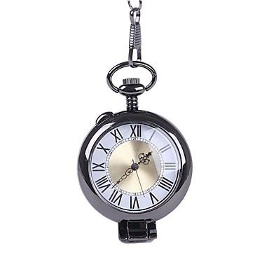 رجالي ساعة جيب كوارتز شوكولا إبداعي مماثل عتيق - أسود