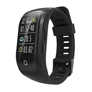 Indear S908PLUS رجالي سوار الذكية Android iOS بلوتوث GPS رياضات ضد الماء رصد معدل ضربات القلب شاشة لمس عداد الخطى تذكرة بالاتصال متتبع النشاط متتبع النوم تذكير المستقرة / أجد هاتفي / ساعة منبهة