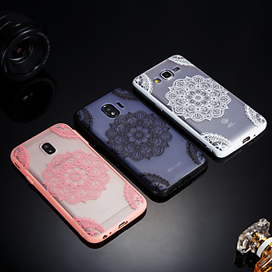 voordelige Galaxy J-serie hoesjes / covers-hoesje Voor Samsung Galaxy J8 / J7 V / J7 Prime Mat / Doorzichtig / Reliëfopdruk Achterkant Lace Printing Hard Acryl