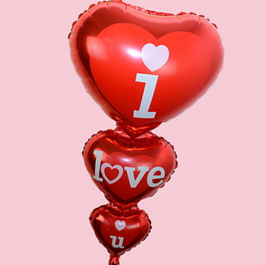 عطلة زينة عيد الحب كائنات ديكور ديكور / محبوب أحمر 1PC